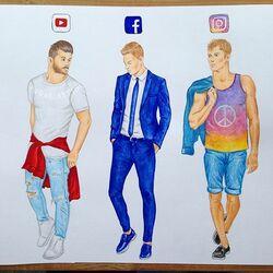 Пазл онлайн:  Социальные медиа