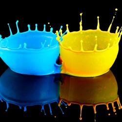 Пазл онлайн: Цветные капли