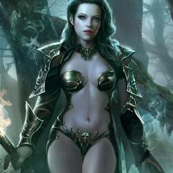 Пазл онлайн: Тёмная ведьма