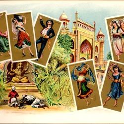 Пазл онлайн: Старинные карточки