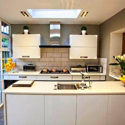 Пазл онлайн: Белая кухня