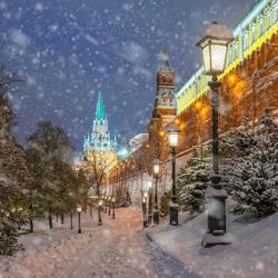 Пазл онлайн: У Кремлевской стены