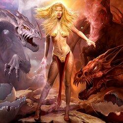 Пазл онлайн: Королева драконов