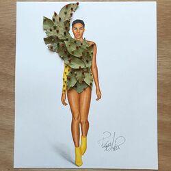 Пазл онлайн: Платье из лаврового листа и перца