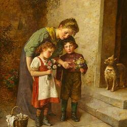 Пазл онлайн: Любимые внуки