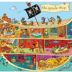 Пазл онлайн: Внутри пиратского корабля
