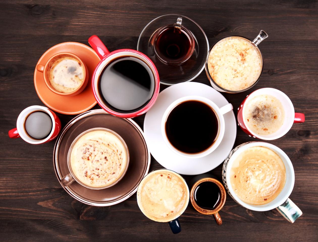 много чашек кофе фото как