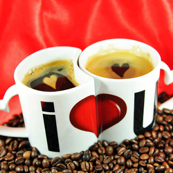 Пазл онлайн: Кофейная пара