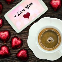 Пазл онлайн: Кофе с любовью