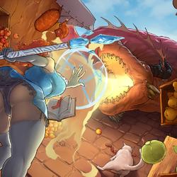 Пазл онлайн: Битва с драконом