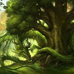 Пазл онлайн: Лесной дракон