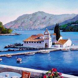 Пазл онлайн: Острова Греции .Корфу