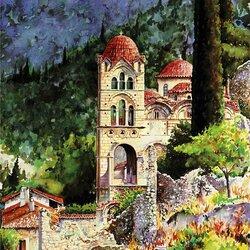 Пазл онлайн: Монастырь Панданассы. Мистрас