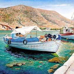 Пазл онлайн: Лодки. Наксос