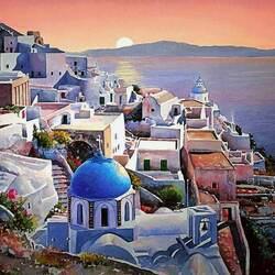 Пазл онлайн: Острова Греции.Санторини
