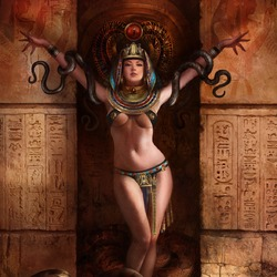 Пазл онлайн: Королева змей