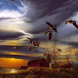 Пазл онлайн: Тихий закат/Silent Sunset