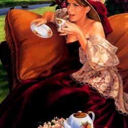 Пазл онлайн: Чай на природе