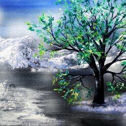 Пазл онлайн: Зимняя зелень