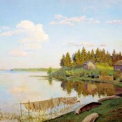 Пазл онлайн: На озере