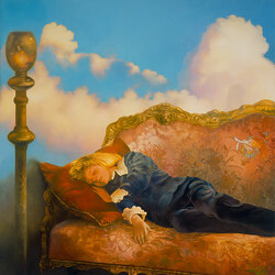 Пазл онлайн: Спящий мальчик