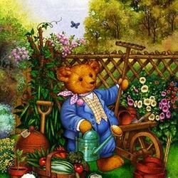 Пазл онлайн: Счастливый огородник