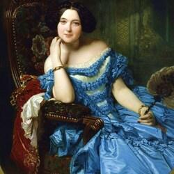 Пазл онлайн: Донья Амалия де Льяно и Дотрес, графиня де Вильчес