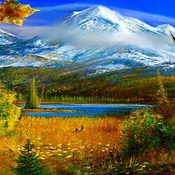 Пазл онлайн: Осень на Аляске