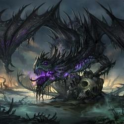 Пазл онлайн: Черный дракон