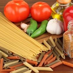 Пазл онлайн: Спагетти и овощи