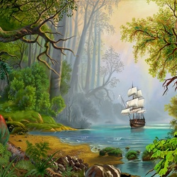 Пазл онлайн: Прекрасный остров