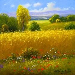Пазл онлайн: Пшеничное поле