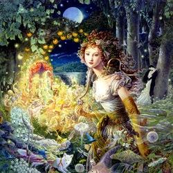 Пазл онлайн: Wildwood Dancing / Танцы в волшебном лесу