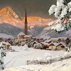 Пазл онлайн: Городок в горах