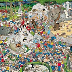 Пазл онлайн: В зоопарке