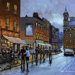 Пазл онлайн: Дождливый вечер в Дублине