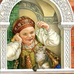 Пазл онлайн: «Русские окна»