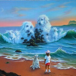 Пазл онлайн: Собачьи мечты