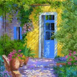 Пазл онлайн: Голубая дверь