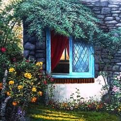 Пазл онлайн: Портрет одного окна