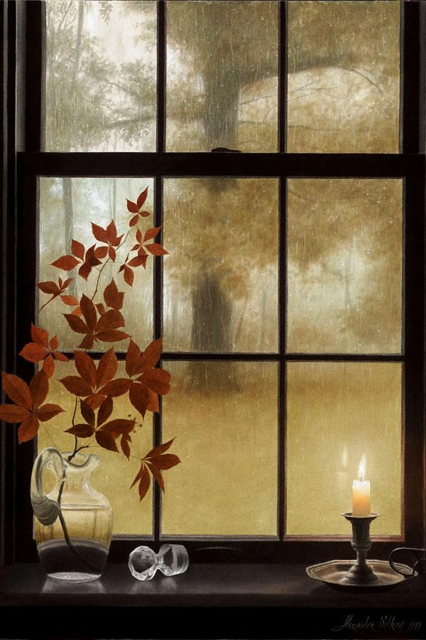 Гифка дождь за окном осень сменить состав