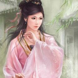 Пазл онлайн: Девушка в розовом кимоно