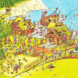 Пазл онлайн: Поселение викингов