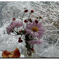 Пазл онлайн: На фоне зимы