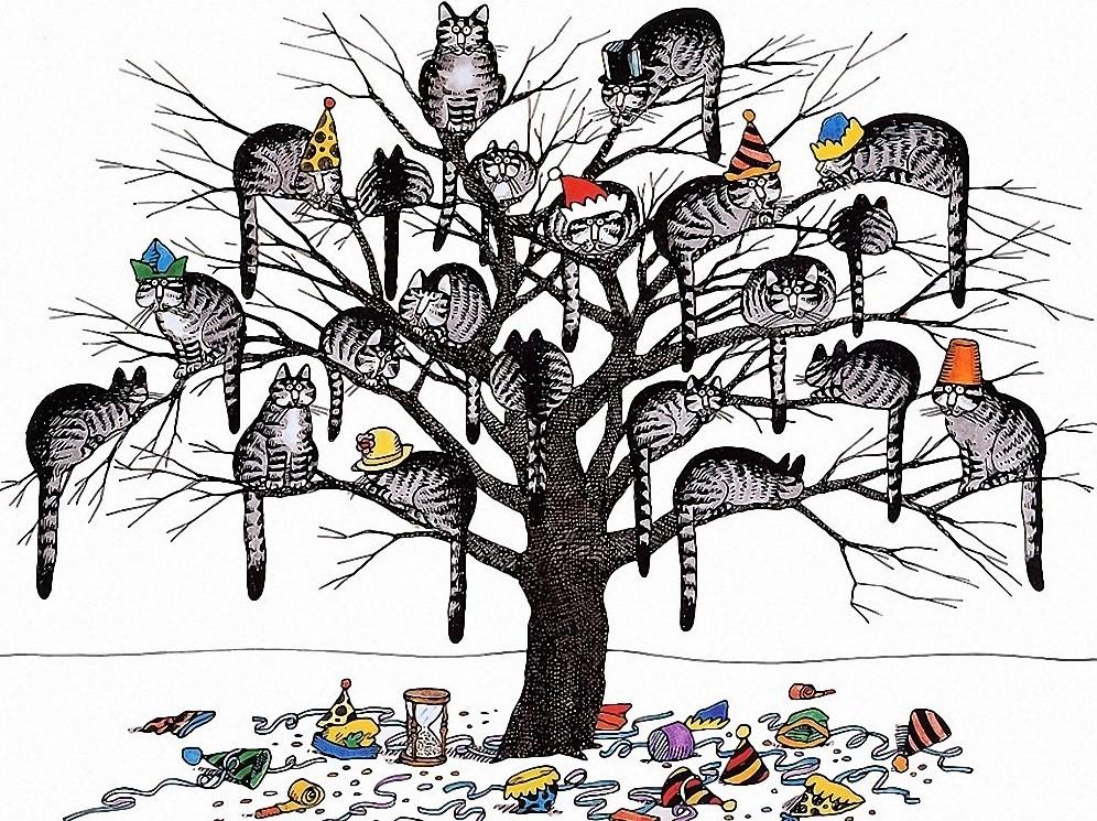 почему прикольные рисунки деревьев днях его