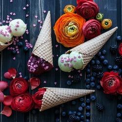 Пазл онлайн: Цветное мороженое
