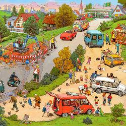 Пазл онлайн: Ремонт дороги