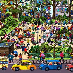 Пазл онлайн: В городском сквере