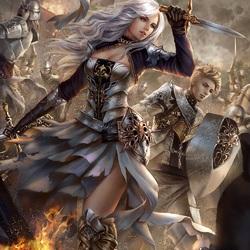 Пазл онлайн: Воины