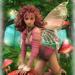 Пазл онлайн: Грибная фея